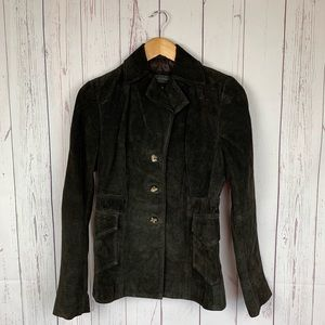 Banana Republic 💯 Suede Leather Jacket Brown SM